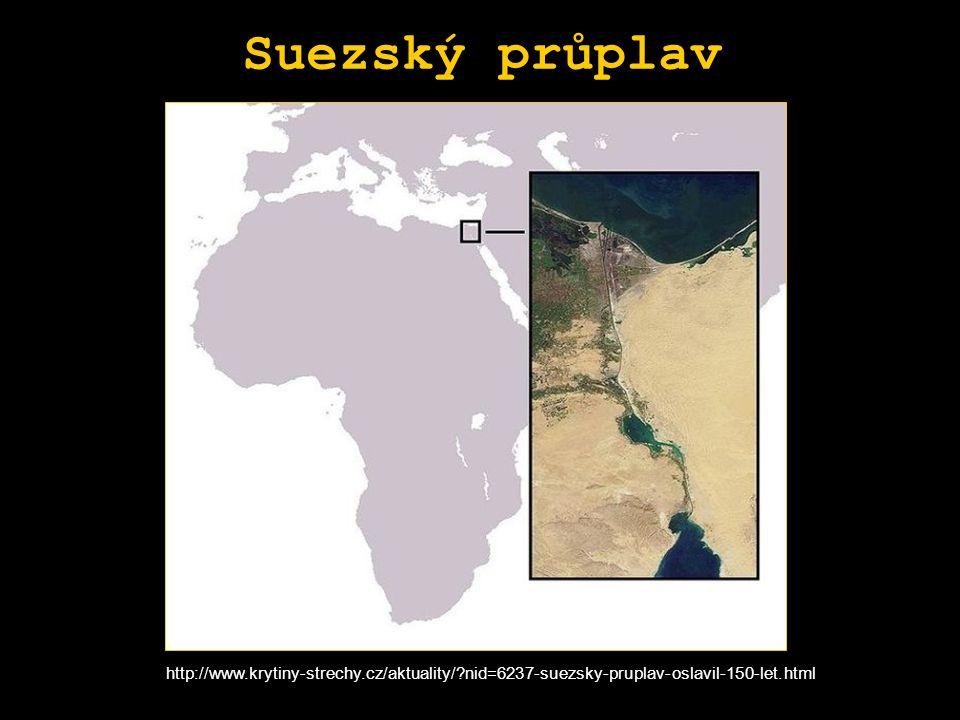 Suezský průplav http://www.krytiny-strechy.cz/aktuality/ nid=6237-suezsky-pruplav-oslavil-150-let.html.