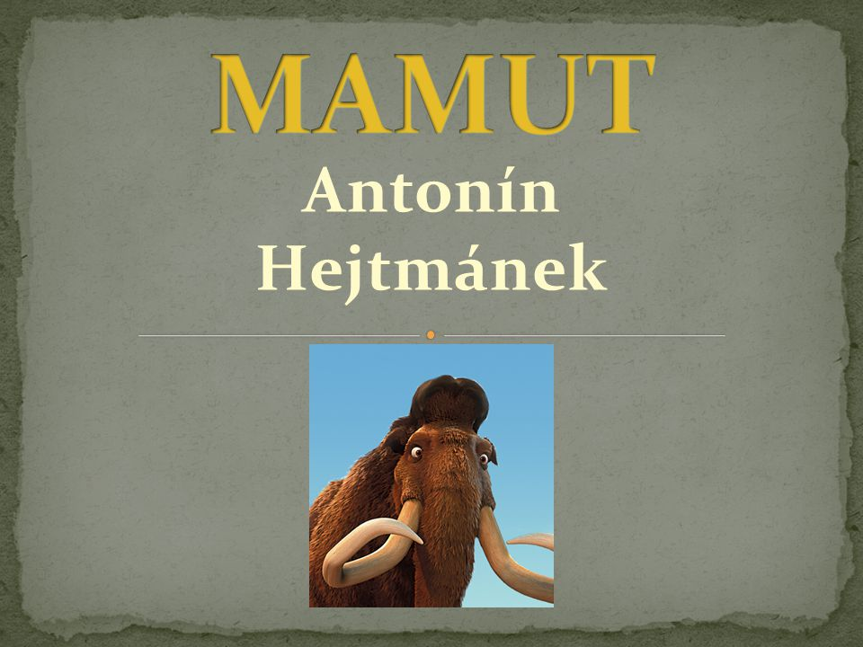 MAMUT Antonín Hejtmánek