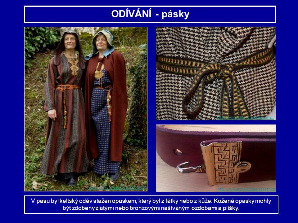 ODÍVÁNÍ - pásky http://www.archeologienadosah.cz. http://www.voyageurs-du-temps.fr. http://www.archeologienadosah.cz.