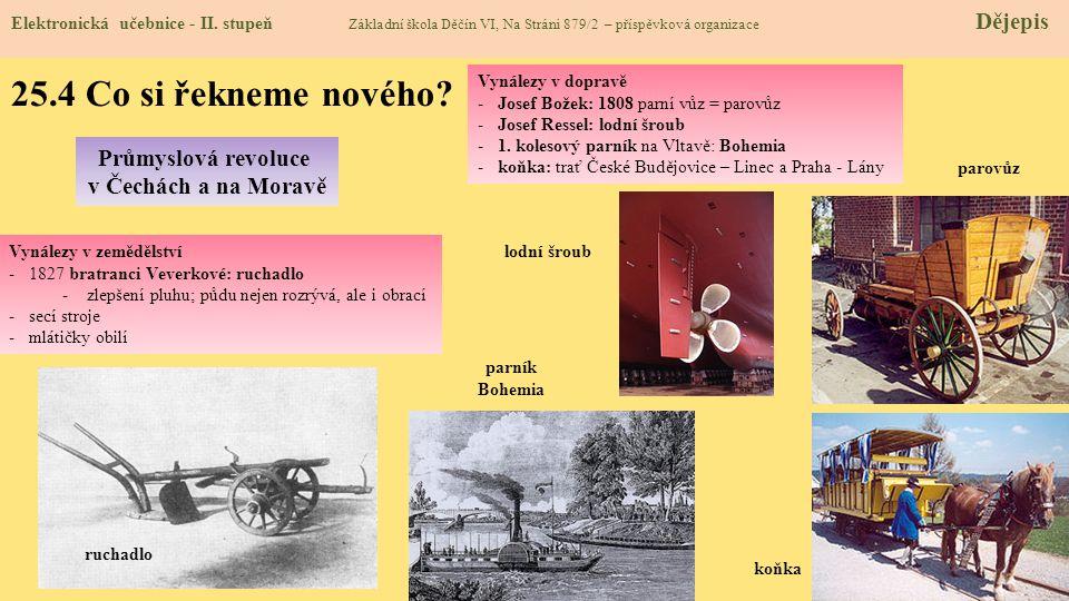 25.4 Co si řekneme nového Průmyslová revoluce v Čechách a na Moravě