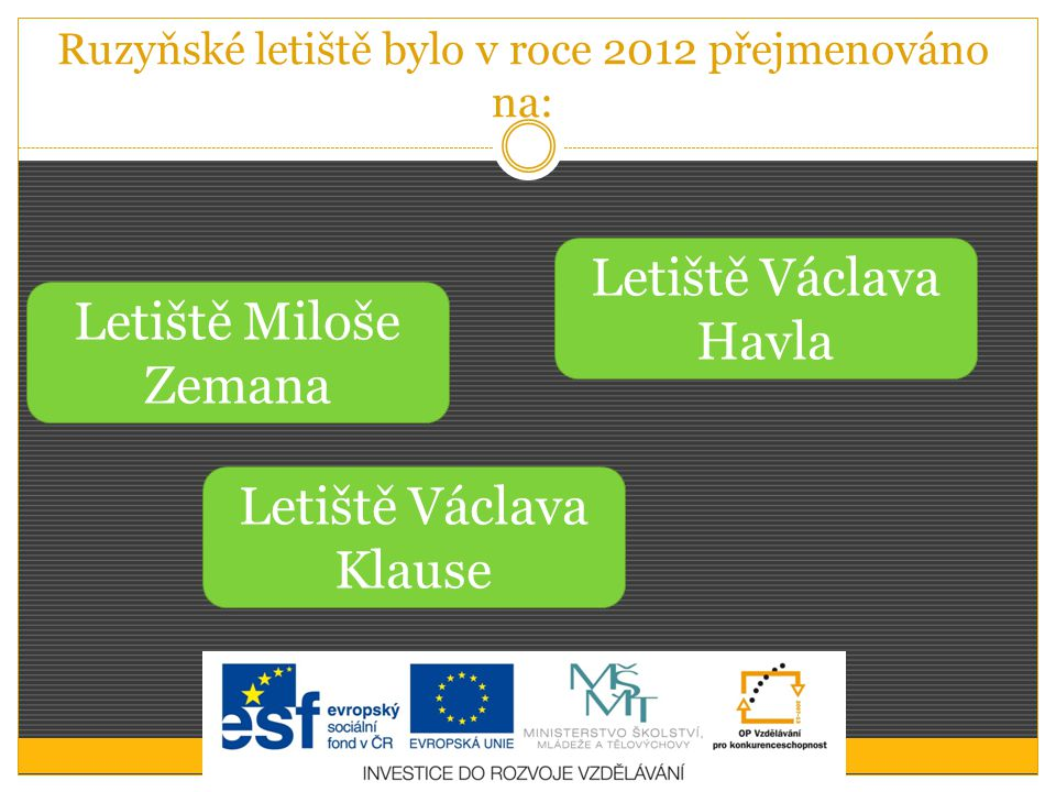 Ruzyňské letiště bylo v roce 2012 přejmenováno na: