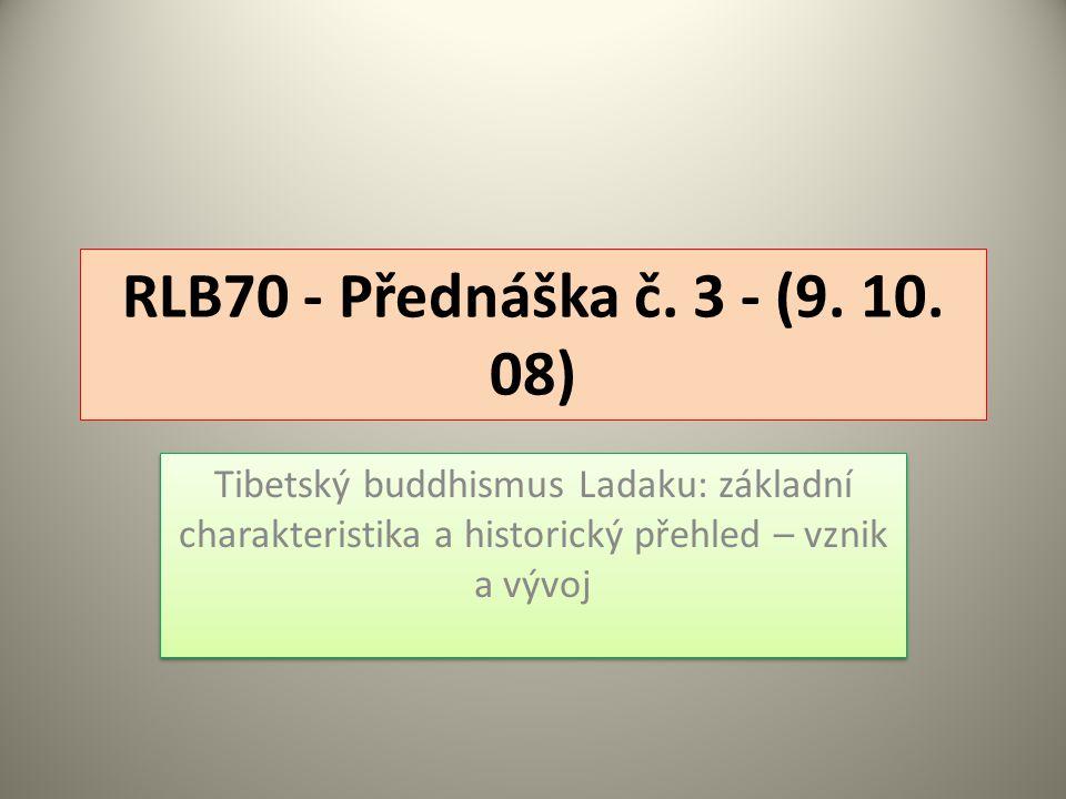 RLB70 - Přednáška č. 3 - (9. 10.