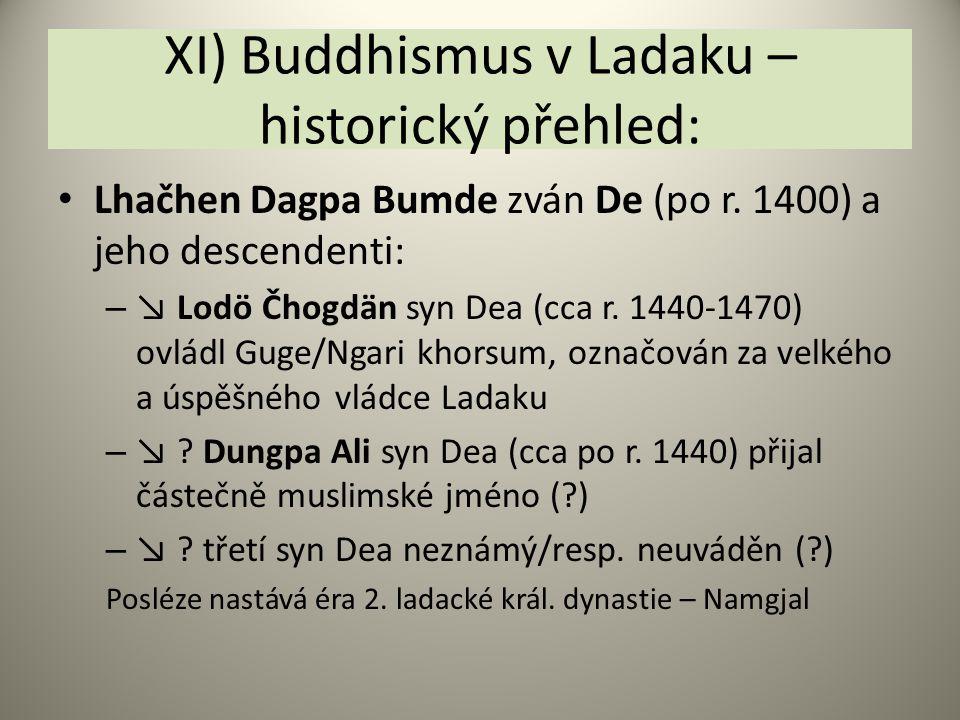 XI) Buddhismus v Ladaku – historický přehled: