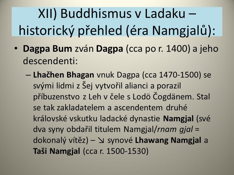 XII) Buddhismus v Ladaku – historický přehled (éra Namgjalů):