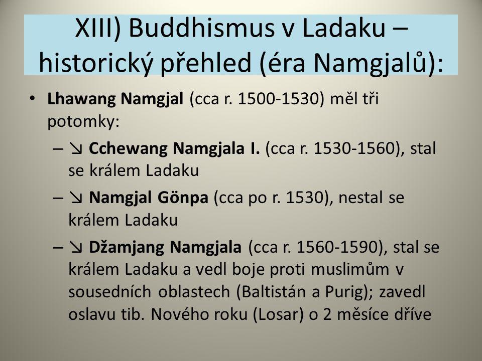 XIII) Buddhismus v Ladaku – historický přehled (éra Namgjalů):
