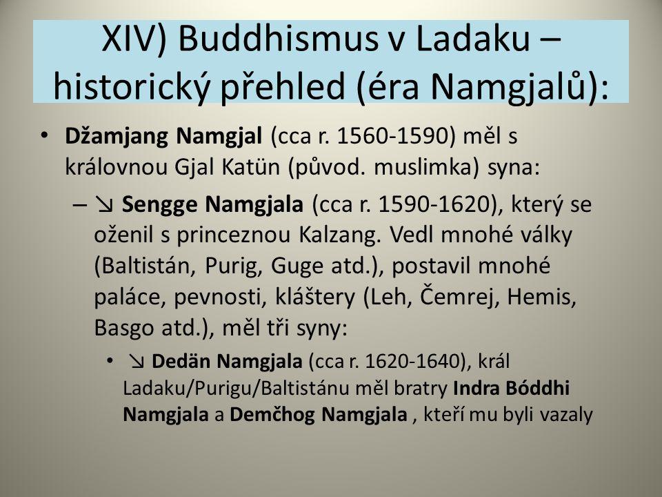 XIV) Buddhismus v Ladaku – historický přehled (éra Namgjalů):