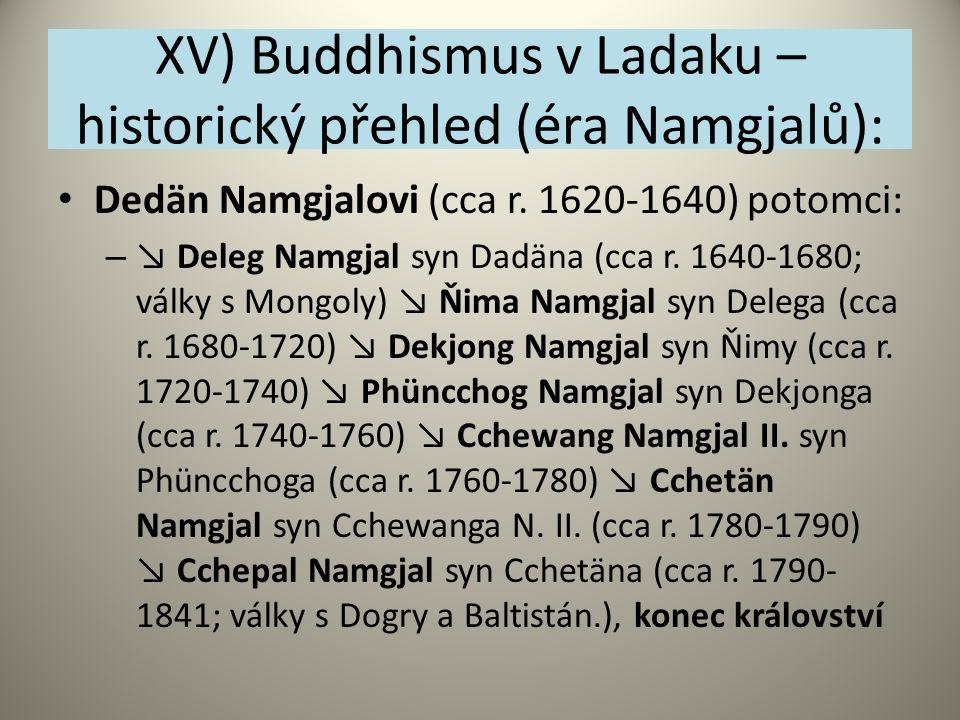XV) Buddhismus v Ladaku – historický přehled (éra Namgjalů):