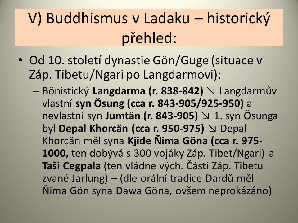 V) Buddhismus v Ladaku – historický přehled: