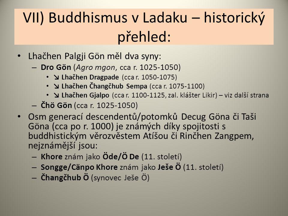 VII) Buddhismus v Ladaku – historický přehled: