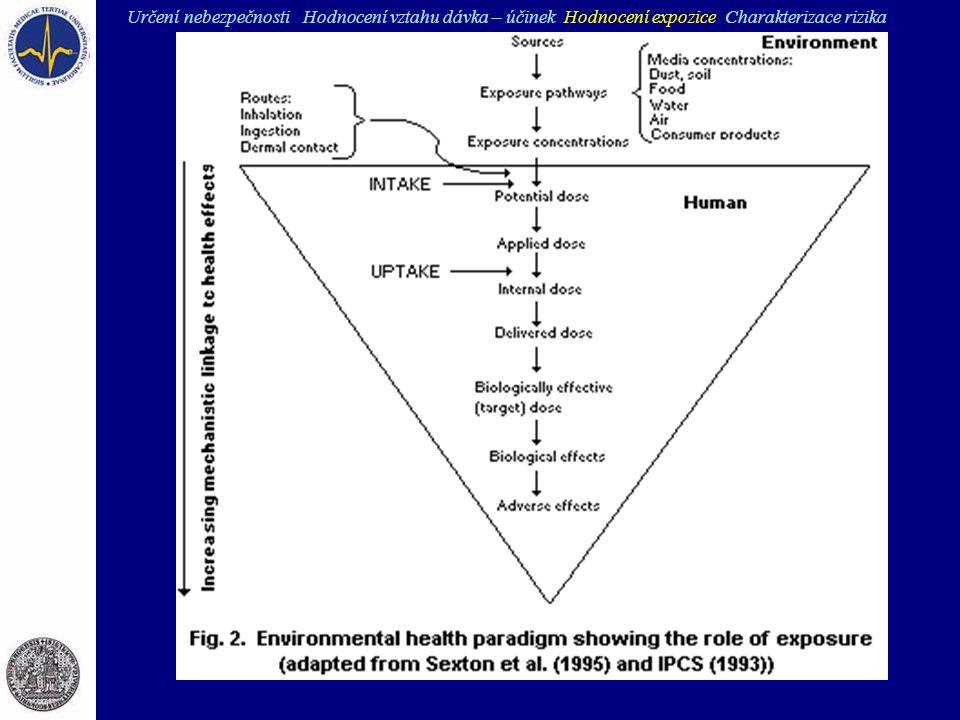 Určení nebezpečnosti Hodnocení vztahu dávka – účinek Hodnocení expozice Charakterizace rizika