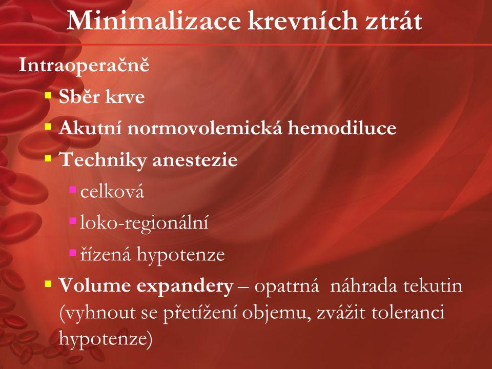 Minimalizace krevních ztrát