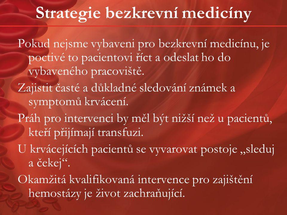 Strategie bezkrevní medicíny