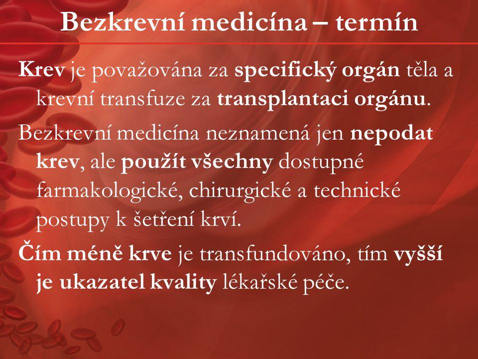 Bezkrevní medicína – termín