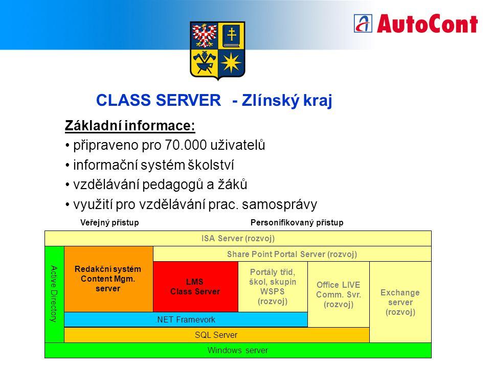CLASS SERVER - Zlínský kraj