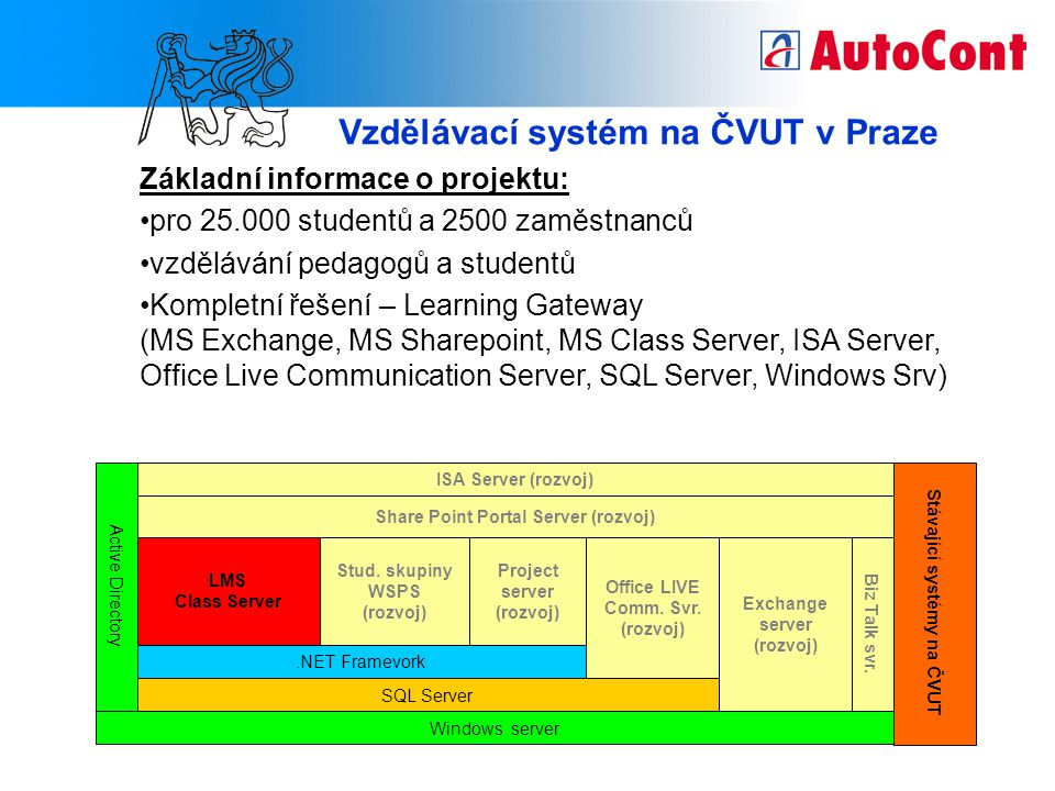 Vzdělávací systém na ČVUT v Praze