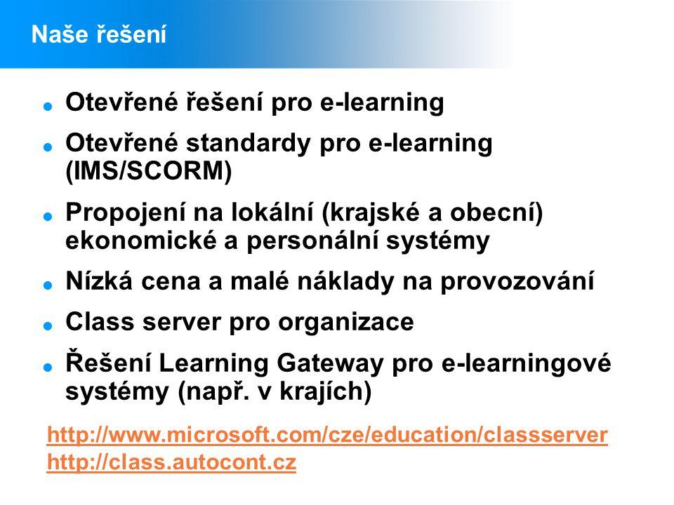 Otevřené řešení pro e-learning