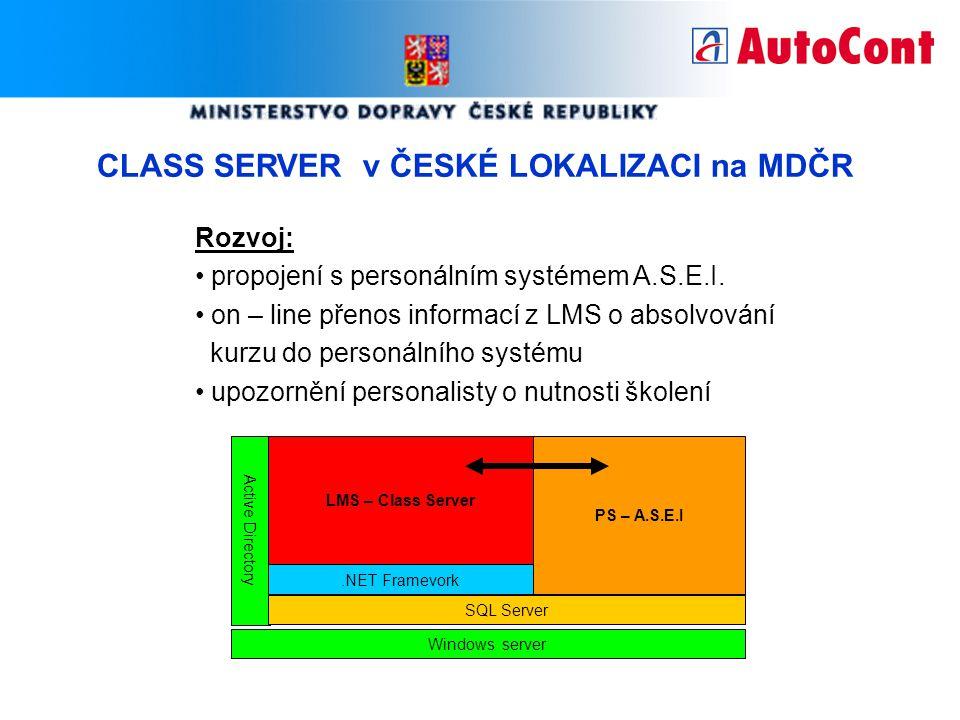 CLASS SERVER v ČESKÉ LOKALIZACI na MDČR