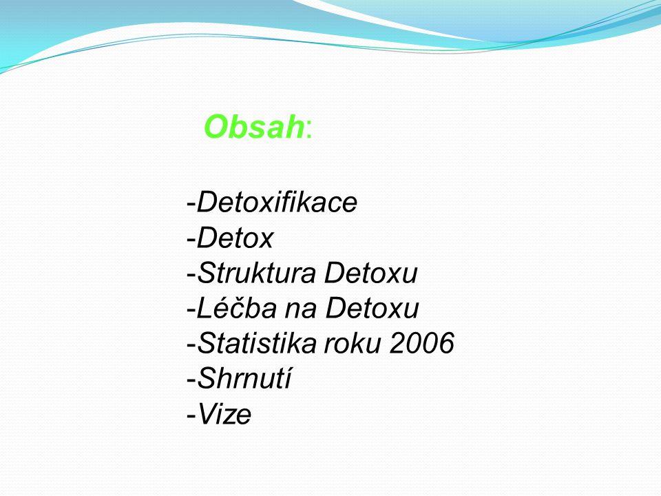 Obsah: Detoxifikace Detox Struktura Detoxu Léčba na Detoxu