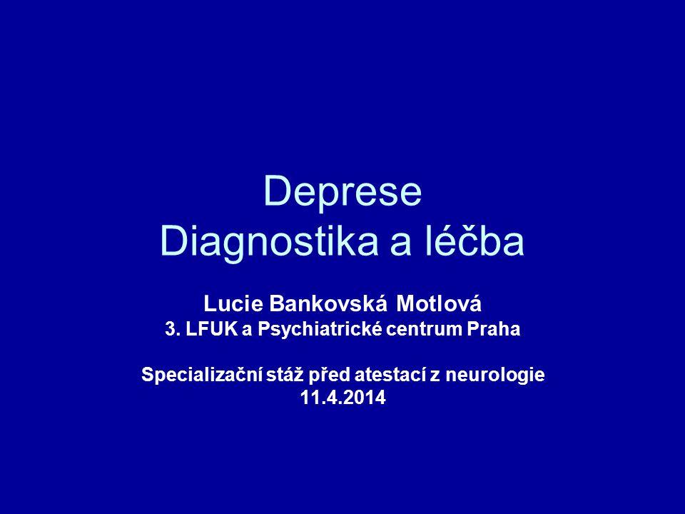 Deprese Diagnostika a léčba