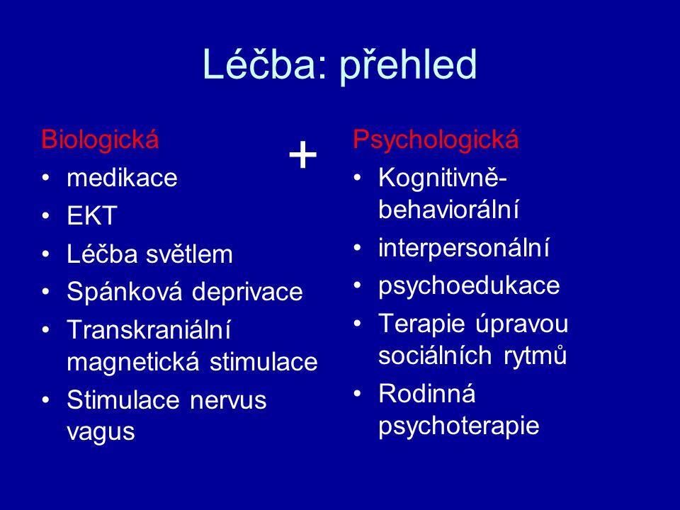 + Léčba: přehled Biologická medikace EKT Léčba světlem