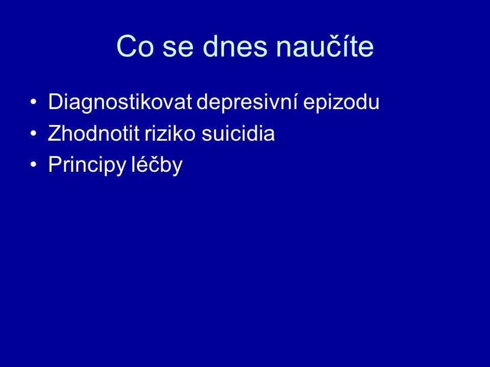 Co se dnes naučíte Diagnostikovat depresivní epizodu