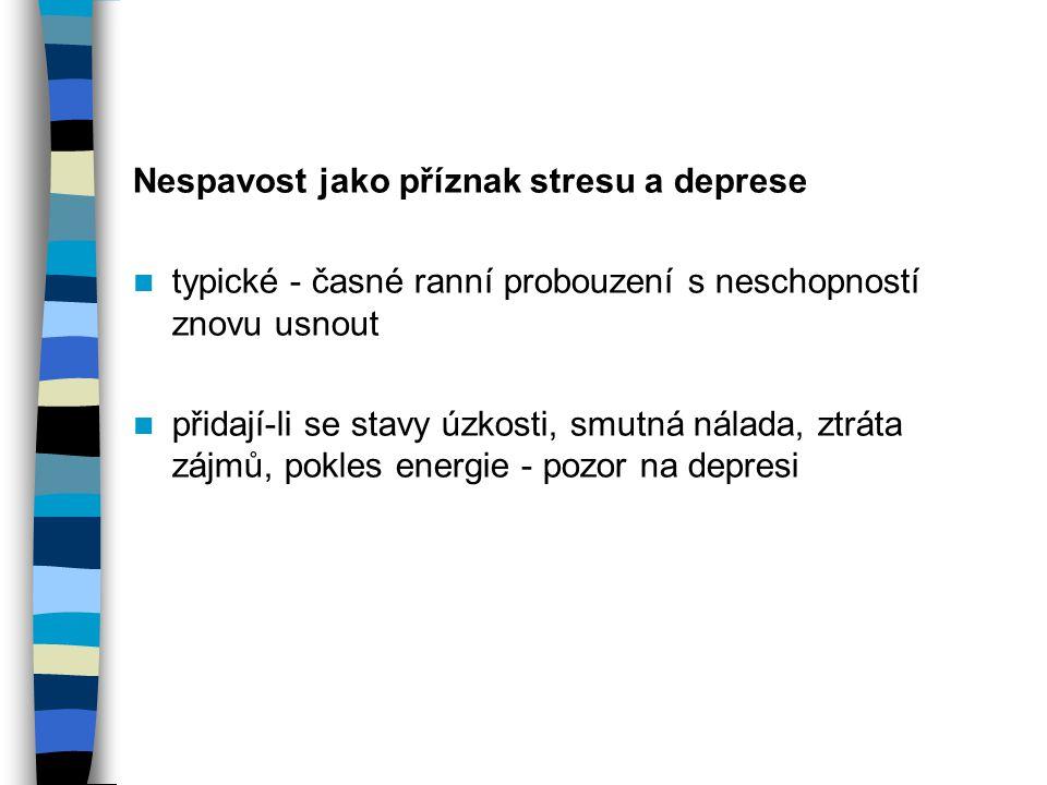 Nespavost jako příznak stresu a deprese