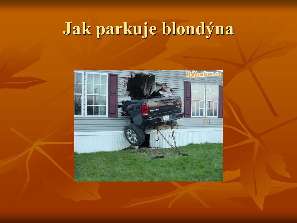 Jak parkuje blondýna
