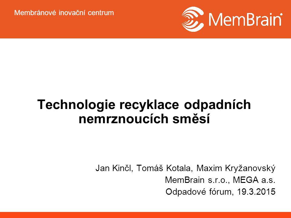 Technologie recyklace odpadních nemrznoucích směsí