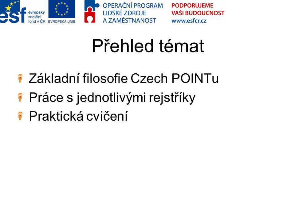 Přehled témat Základní filosofie Czech POINTu