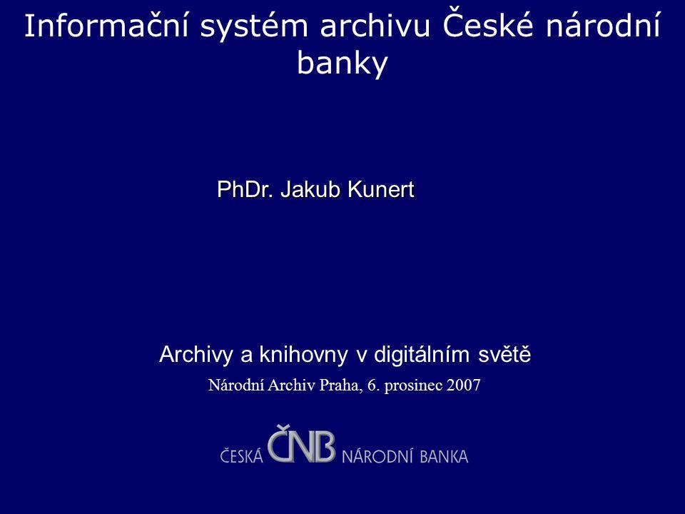 Informační systém archivu České národní banky