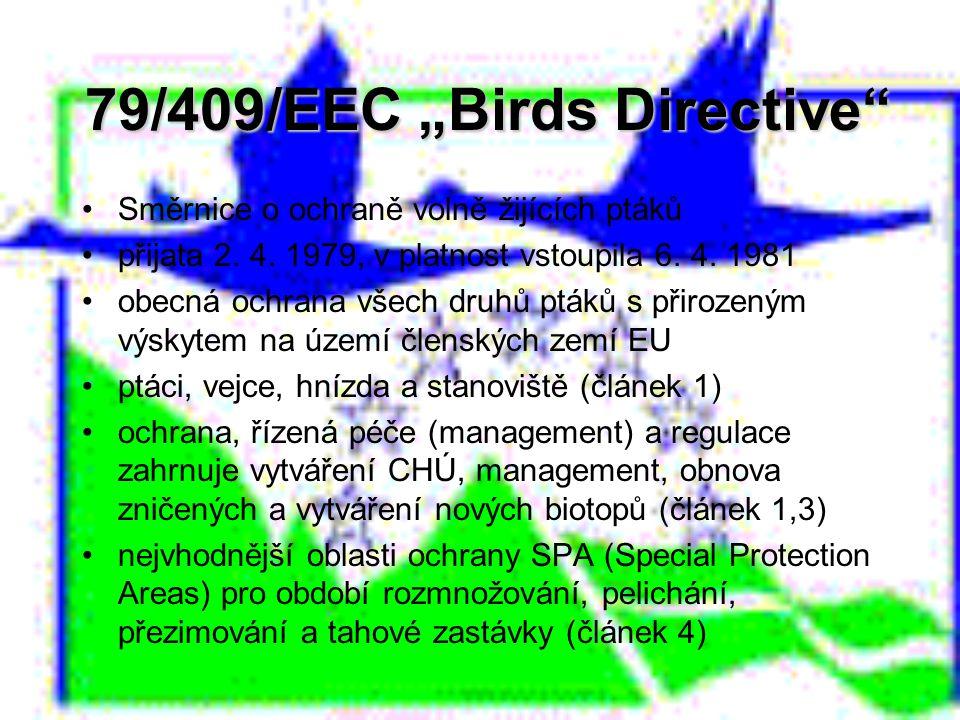 """79/409/EEC """"Birds Directive"""