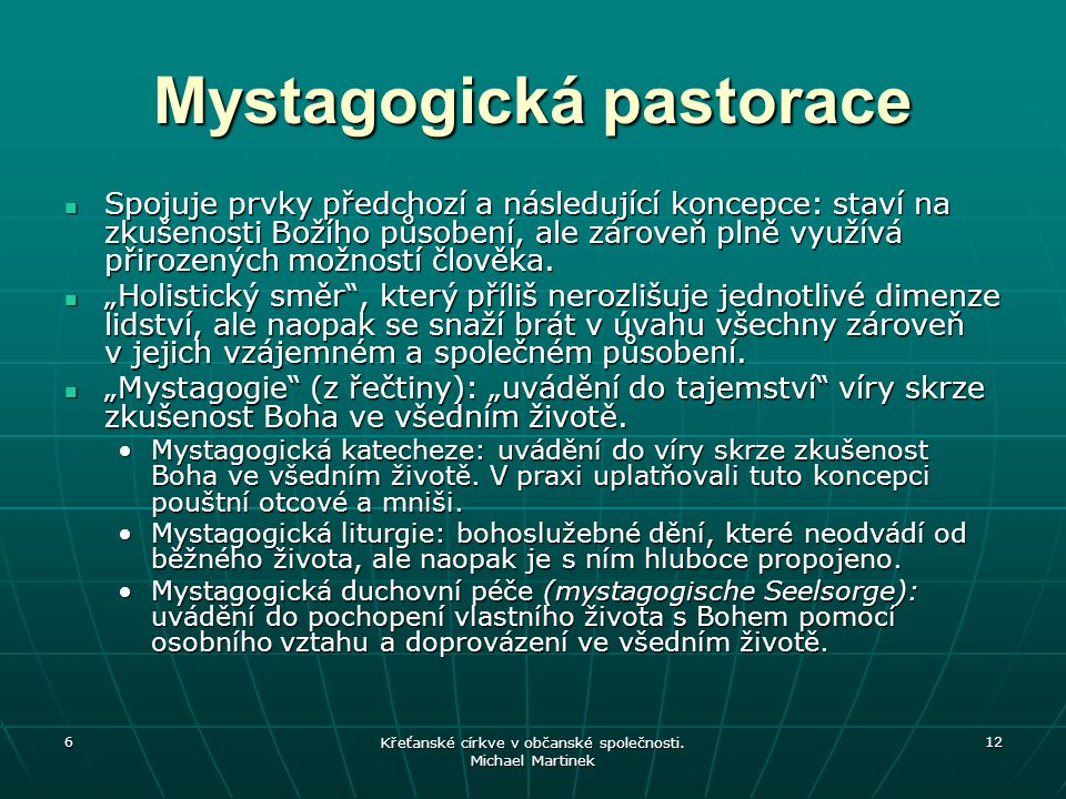 Mystagogická pastorace