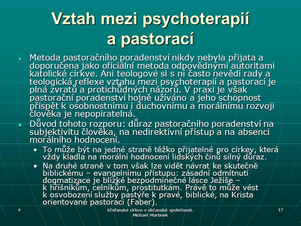 Vztah mezi psychoterapií a pastorací