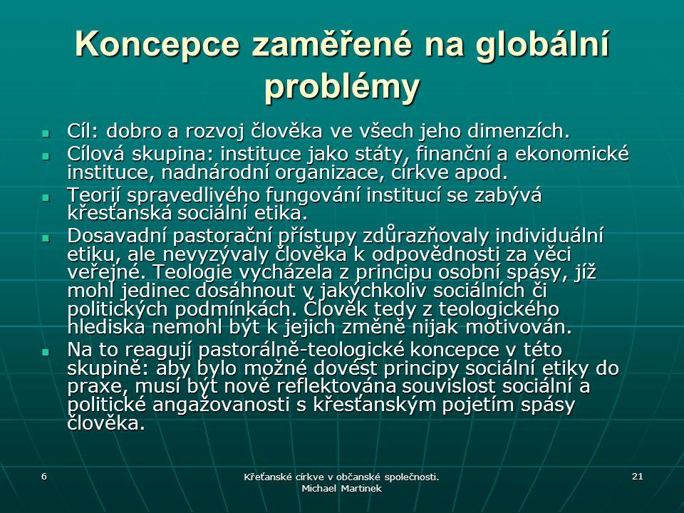 Koncepce zaměřené na globální problémy