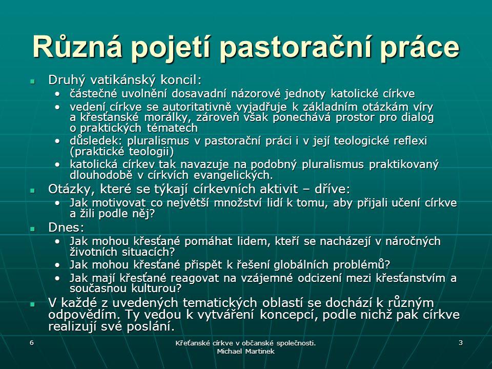 Různá pojetí pastorační práce