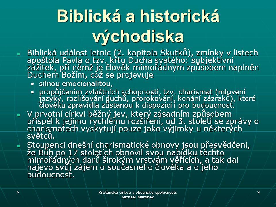 Biblická a historická východiska
