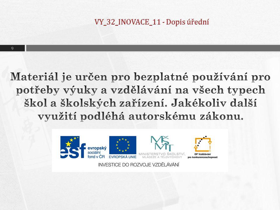 VY_32_INOVACE_11 - Dopis úřední
