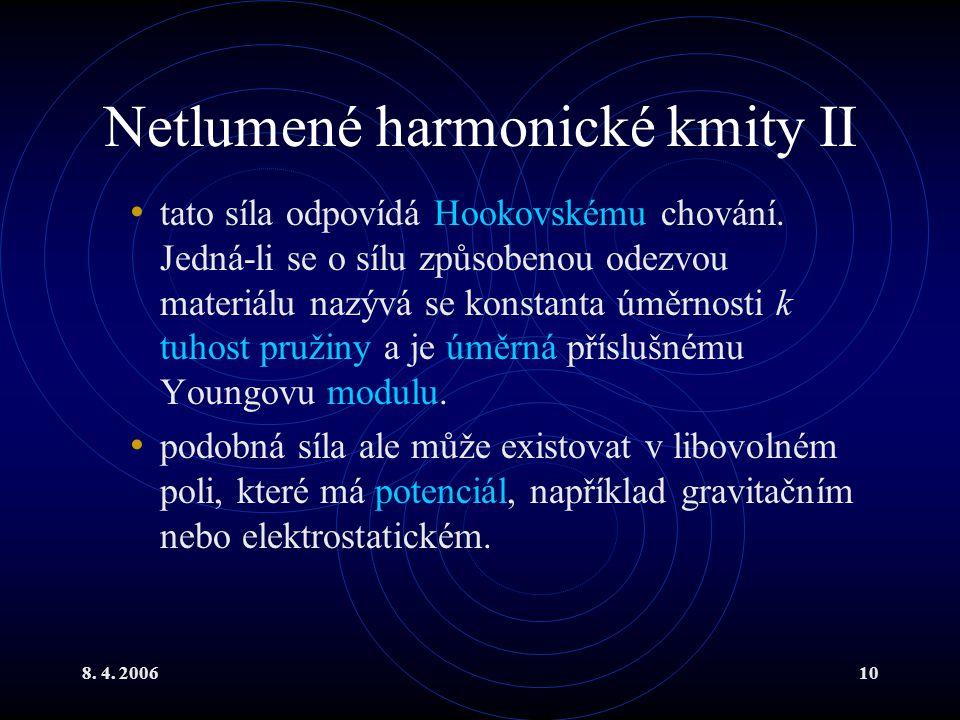 Netlumené harmonické kmity II