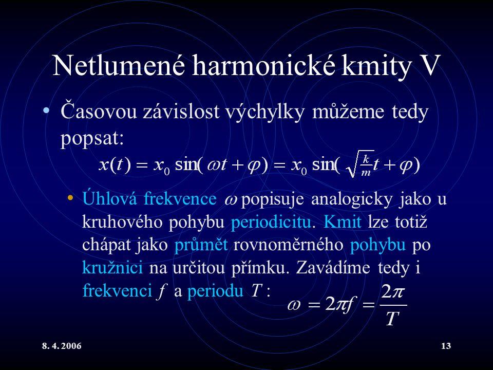 Netlumené harmonické kmity V