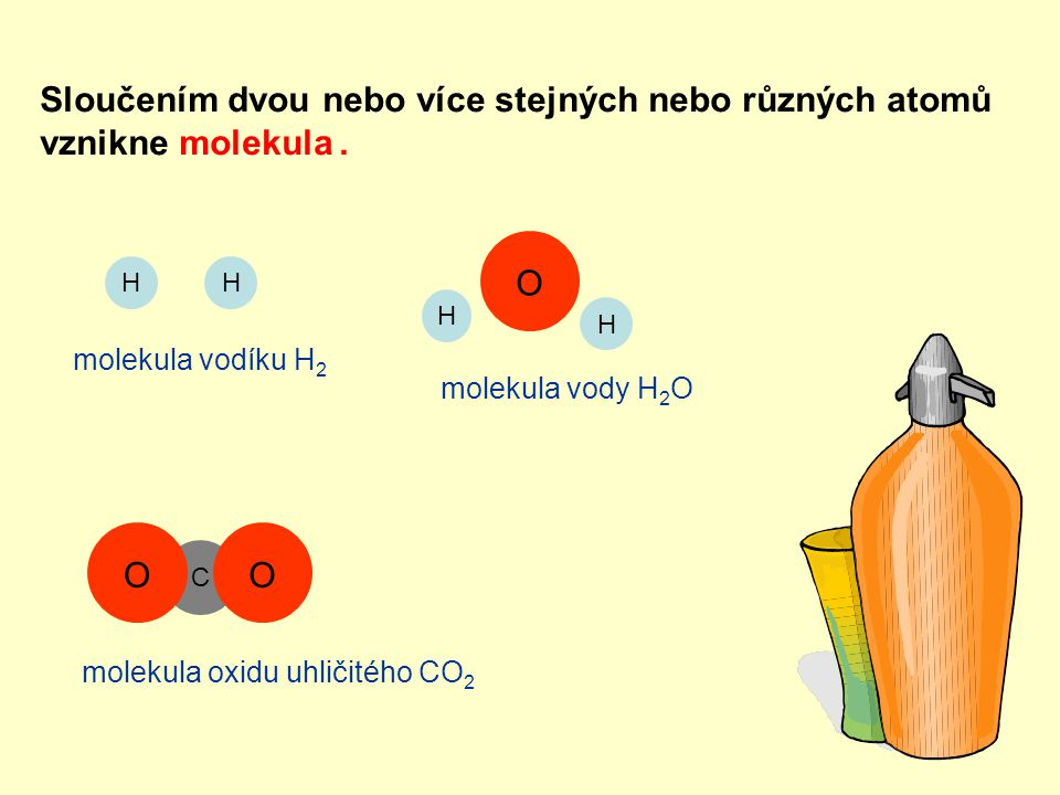 Sloučením dvou nebo více stejných nebo různých atomů