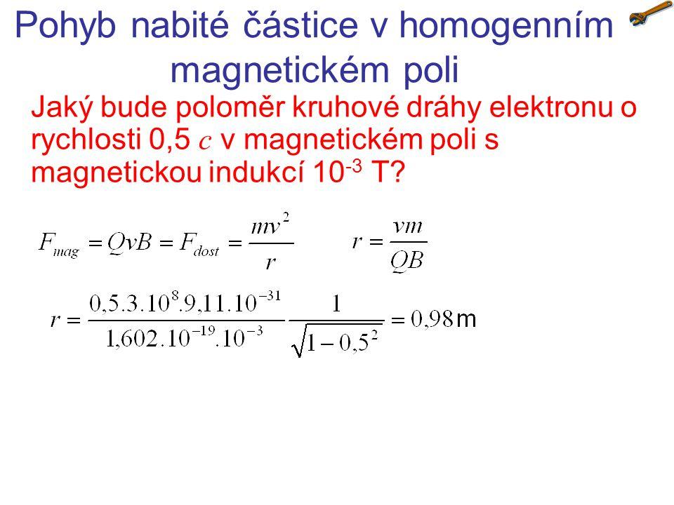 Pohyb nabité částice v homogenním magnetickém poli