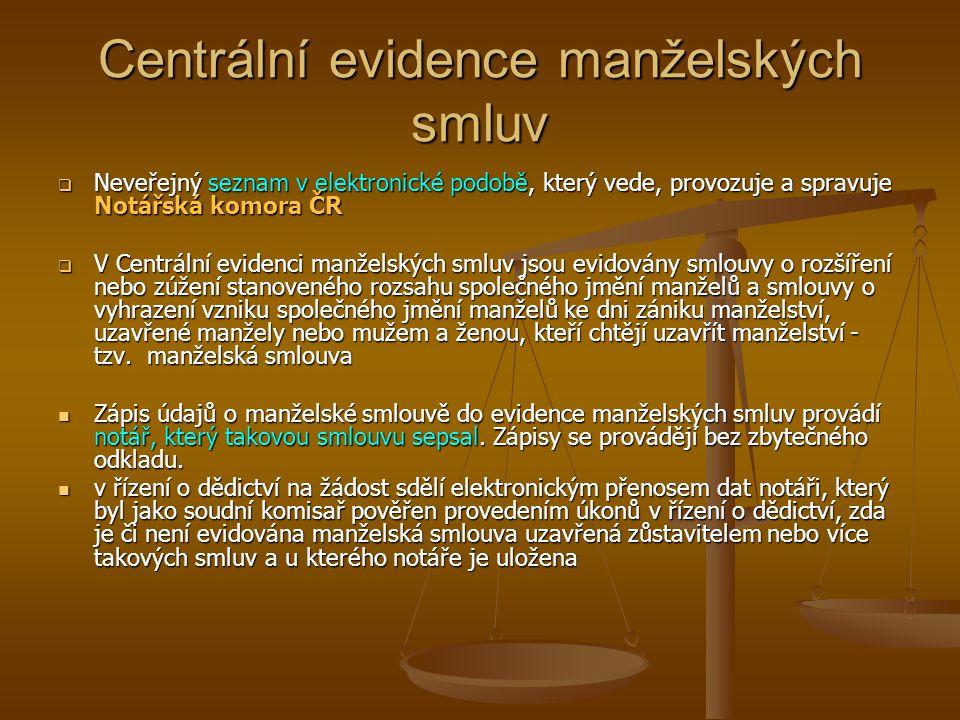 Centrální evidence manželských smluv