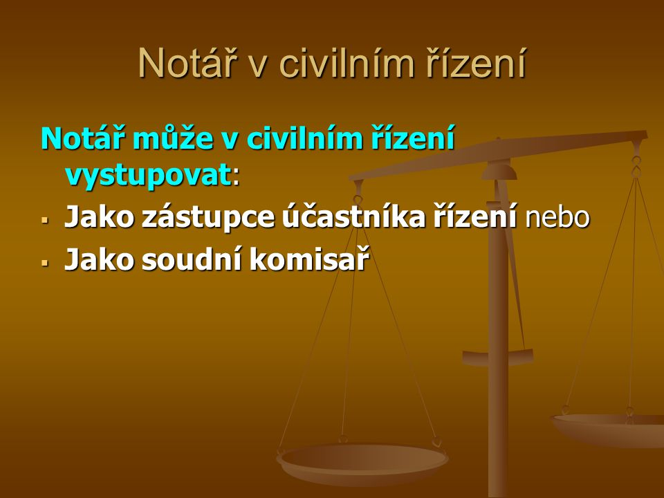 Notář v civilním řízení