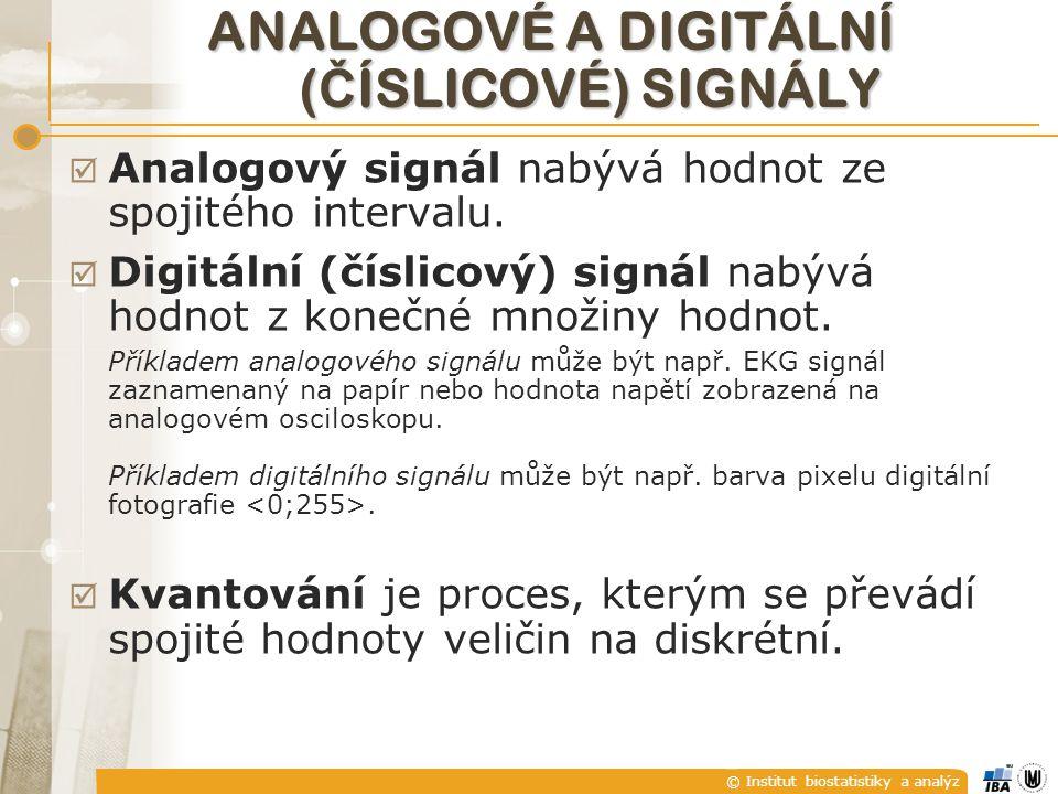 Analogové a digitální (číslicOVÉ) signály