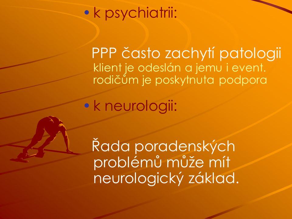 Řada poradenských problémů může mít neurologický základ.
