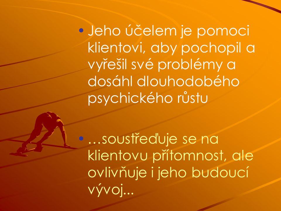 Jeho účelem je pomoci klientovi, aby pochopil a vyřešil své problémy a dosáhl dlouhodobého psychického růstu