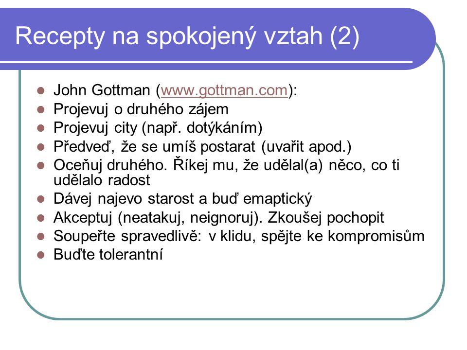 Recepty na spokojený vztah (2)