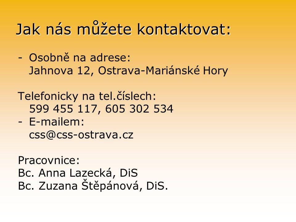 Jak nás můžete kontaktovat: