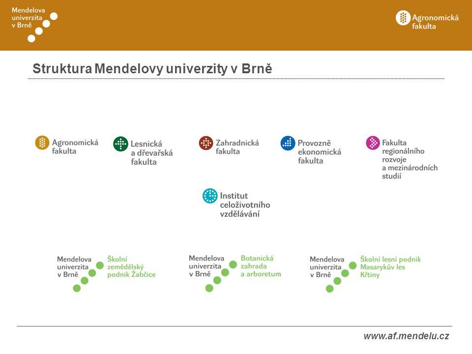 Struktura Mendelovy univerzity v Brně
