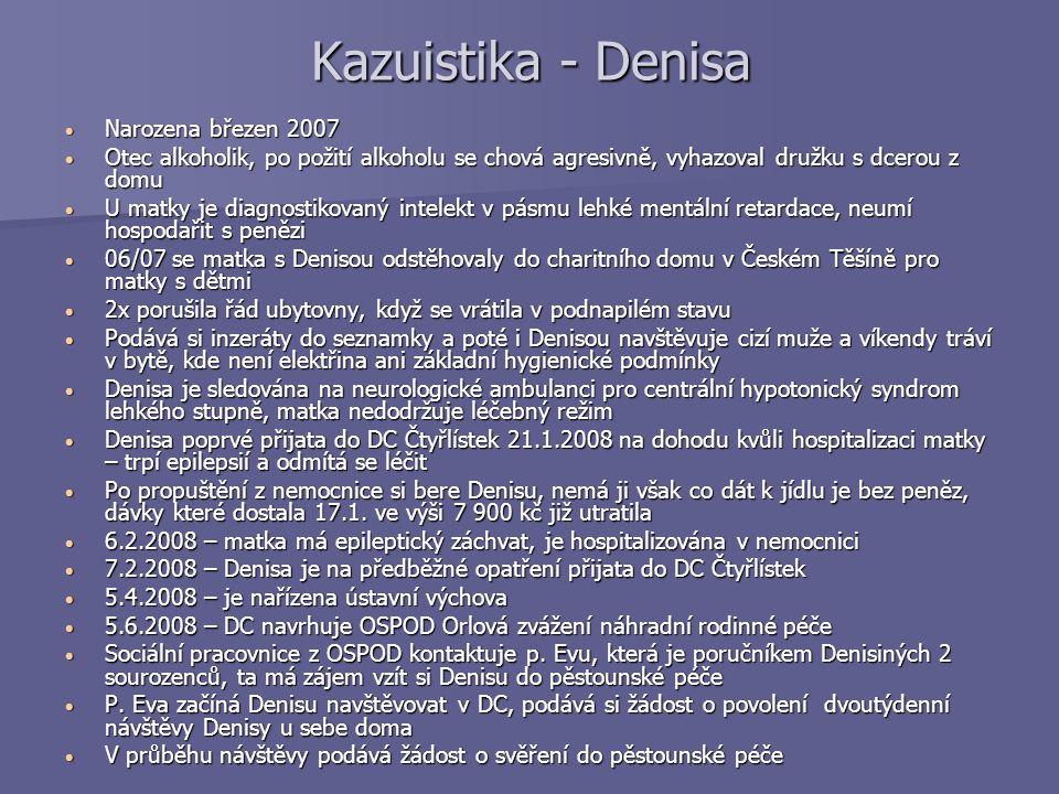 Kazuistika - Denisa Narozena březen 2007